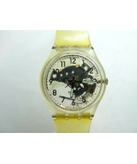 Swatch AG 1994 see thru dial watch with Original Band for vintage restor... - $86.11