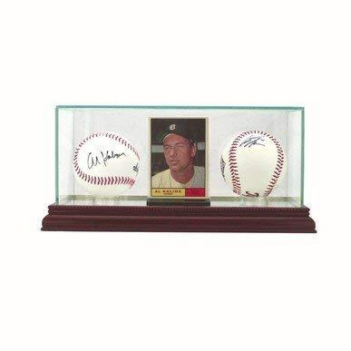 Perfect Cases Glass Card and Double Baseball Display Case with Mirror