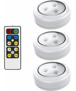 Brilliant Evolution LED Puck Light 3 Pack with Remote, Indoors,Bulbs,Fan... - $29.95