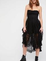 New Free People Black Italian Love Story Slip Dress Intimately $138 SMALL  - $45.54