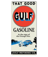 Good Gulf Gasoline Reproduction Motor Oil Metal Sign 11x24 - $39.55