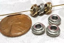 3pcs. Slash Rounded Edge Fine Pewter Bead - 3.5x7x7mm; Hole 3mm image 2