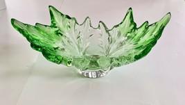 """Lalique Champs Elysées Green Leaf 18"""" Centerpiece Bowl Limited Edition Reg $6800 - $4,257.00"""