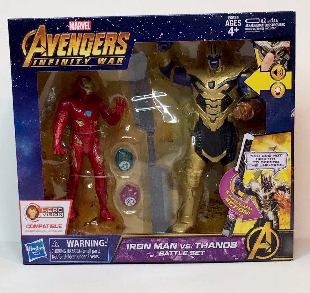 Marvel Avenger Infinity War 6 Inch Action Figure Iron Man vs Thanos Battle [New]