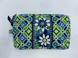 Vera Bradley Daisy Daisy Medium Cosmetic Bag Floral Green Blue White - $14.99