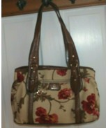 Etienne Aigner Handbags Floral Multicolored Leather Trim  With  Bag Char... - $19.80