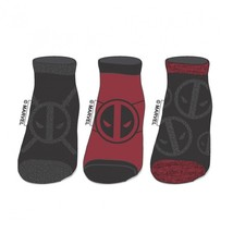 Deadpool Marvel Comics 3 Pack Ankle Socks Nwt - $10.50
