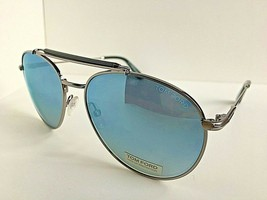 Tom Ford CTF33814X 58mm Silver Pilot Mirrored Sunglasses Italy T1 - $119.99