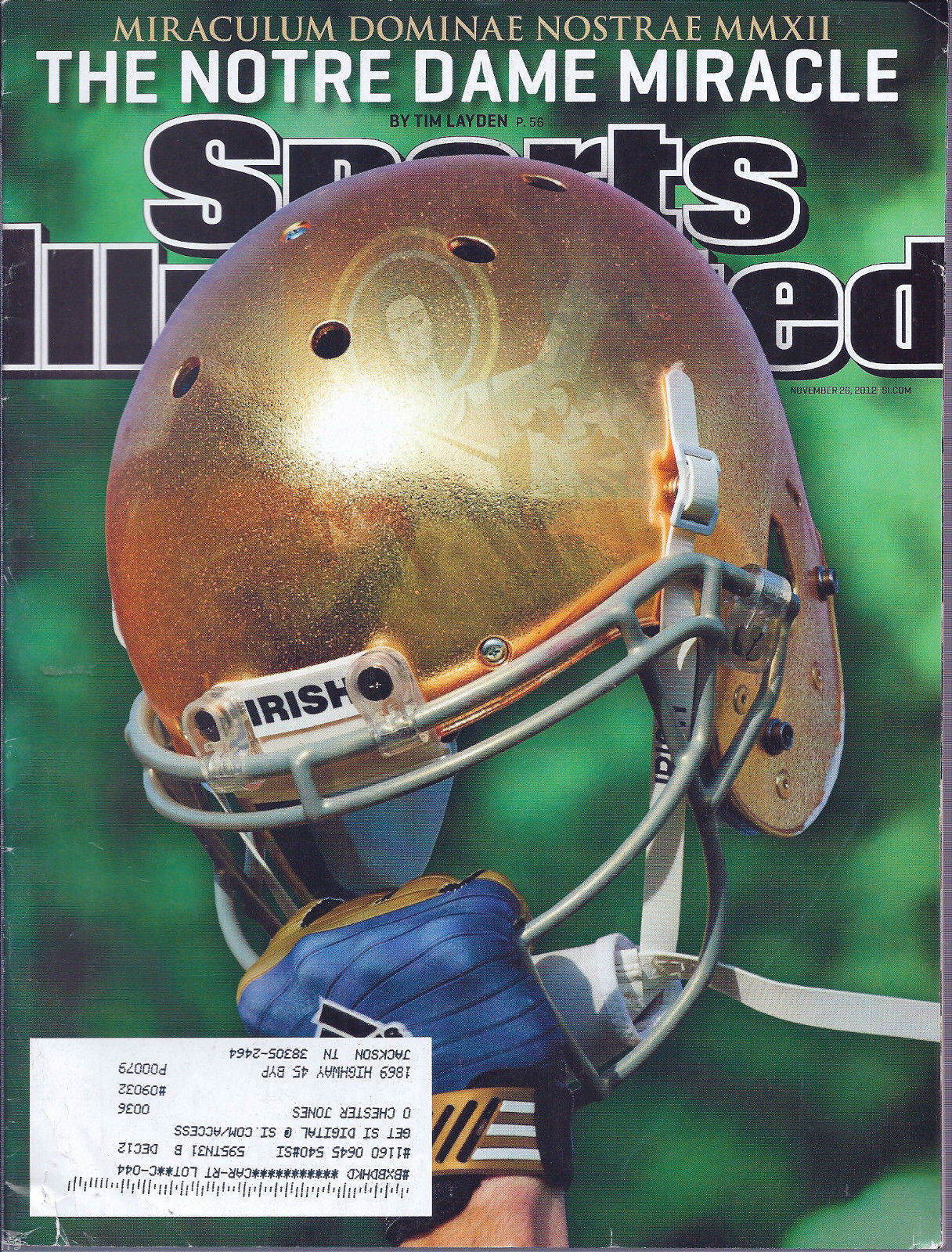 Primary image for Sports Illustrated Magazine November 26, 2012 The Notre Dame Miracle