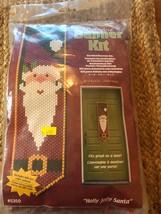 Holly Jolly Santa Beaded Banner Kit NEW #5350 The Beadery Craft Products - $26.24