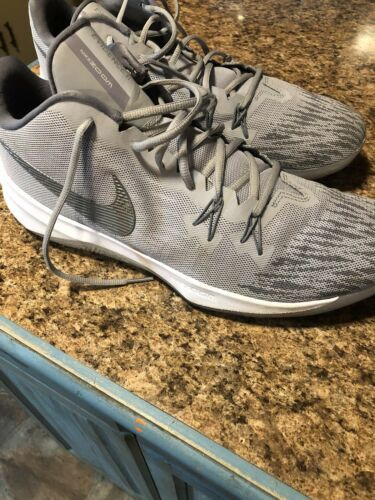 Wow!! Mens Nike Zoom Evidence II Wolf Grey High-Top Basketball Shoes!!(13)908976 image 2