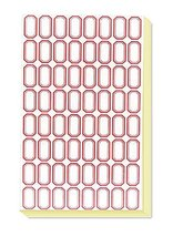 Red Edge 2.71.5 cm Label Stickers for Price Marking - $15.52