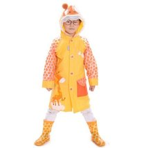 Little Giraffe Cute Baby Rain Jacket Infant Raincoat Toddler Rain Wear YELLOW S