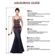 Women's Long Halter Floral Embroidered Tulle Wedding Dress Bridal Gown image 6