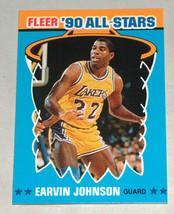1990 Fleer #4 magic earvin johnson la lakers'90 all-star nba basketball ... - $8.19