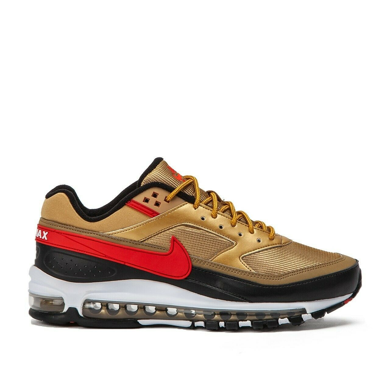 Nike Air Max 97 BW Metallic Gold Red Trainers image 8