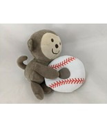 "Carters Monkey Rattle Plush Baseball Ring 6"" Stuffed Animal - $13.60"