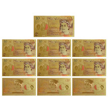 WR 10 Pounds 24k Gold Plated England Paper Money Colored - $35.95
