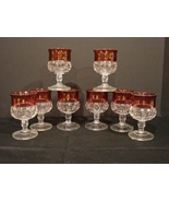 8 Stemmed Cordial Glasses by  ~ Tiffin Franciscan US Glass Co - $42.00