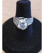 QVC  Diamonique Style Sterling Silver Ring - $56.99