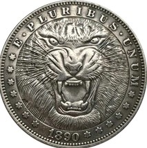 Rare New Hobo Nickel 1890 Morgan Dollar Lion Wild Cat Africa African Cas... - $11.99