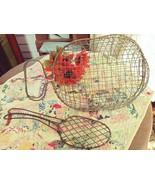 Primitive wire egg basket and spatula - $40.00