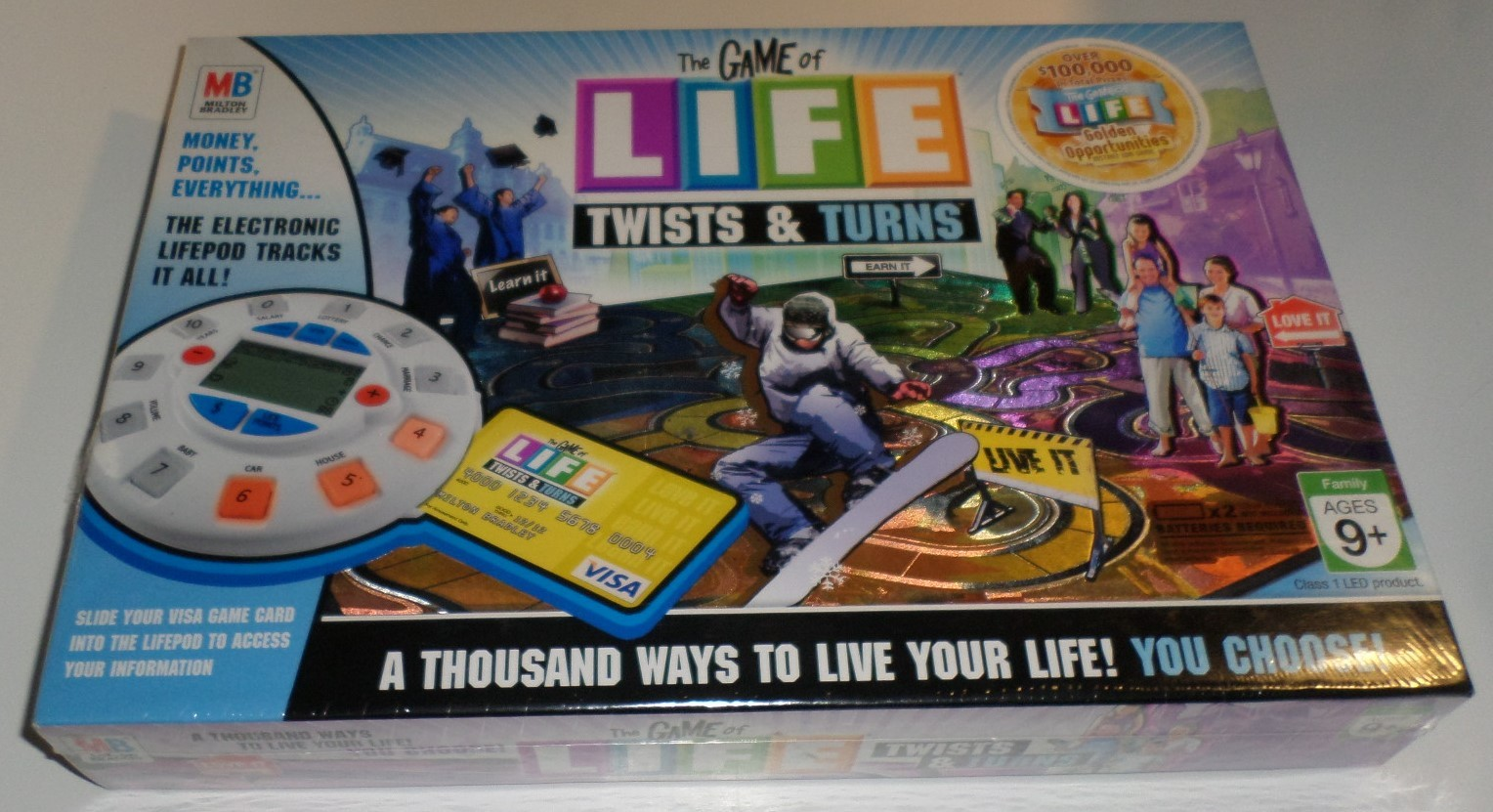 Game of Life Twists and Turns 2007 electronic Lifepod Hasbro