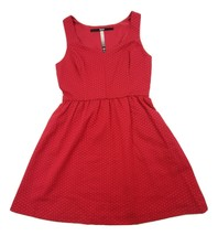 Kensie Women's Red Polka Dot Fit and Flare Sleeveless Dress Lined Size Small - $19.24