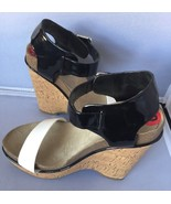BCBGeneration Women's Crespo Wedge Sandal,White Black,6B - $29.95