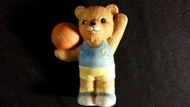 """Sports Teddy Bear Porcelain Figurine """"Basketball Bear"""" HOMCO - $10.00"""
