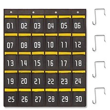 Edudif Classroom Numbered Pocket Chart for Cell Phone and Calculator Hol... - $22.87