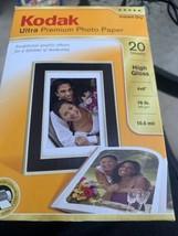 Kodak Ultra Premium Photo Paper - High Gloss - 4 x 6 - Open Box - 14 Sheets - $2.97