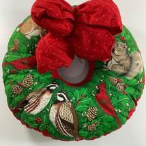 Wildlife Christmas Wreath Complete Cranston Squirrel Rabbit Cardinal Par... - $44.55