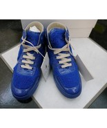 NIB 100% AUTH Gucci Blue Children's Blue shearling high top sneaker 3560... - $137.61