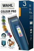 WAHL Colour Pro Corded Hair Clipper Trimmer Clippers Blue  - $28.90