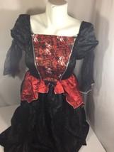 Unbranded Girl Halloween Costume Size M Skeleton Logo Dress Red ,black B... - $9.50