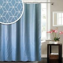 Blue Canyon Teal Geometric Shower Curtain 180cm x 180cm - $29.35
