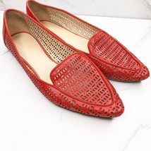 Franco Sarto Soho Leather Pointed Toe Shoes Flats Red Size US 11 EU 41 - $29.01
