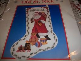 Dimensions Kit 8350~Old St. Nick Cross Stitch Stocking - $30.00