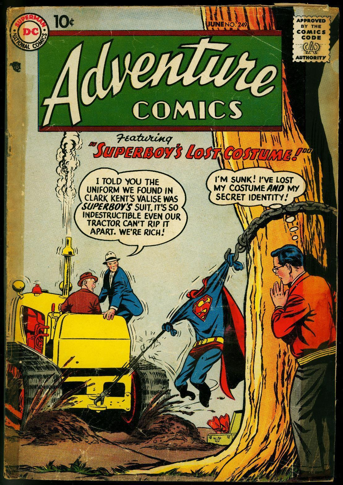 ADVENTURE COMICS #249 1958-SUPERBOY-GREEN ARROW-AQUAMAN FR/G