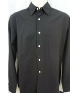JA John Ashford Mens Casual Shirt Sz S Deep Black Button Down Casual Shirt - €17,73 EUR
