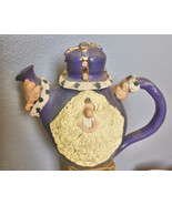 "Hand Made Studio Tea Pot King with Beard Purple 11 x 9"" - $35.00"