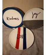 (3)  ROYAL DOULTON--- SALAD PLATES --ELLEN DEGENERES--JOY-- -FREE SHIP--VGC - $24.48