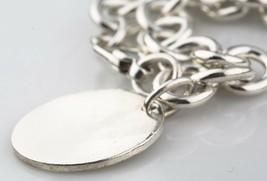 "Tiffany & Co. 925 Silver Blank Round Tag Charm Bracelet 7.5"" Retails - $195.06"