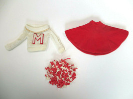 Vintage Barbie Cheerleader Doll Outfit, skirt, sweater pompom #876 1964 - $25.00