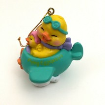 AVON Vintage Easter Flying Eggspression Ornament Chicks in Plane in Orig... - $12.86