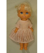 Grand Group 014-22gg Vintage Baby Doll with Crocheted Dress Plastic Fabric - $20.21