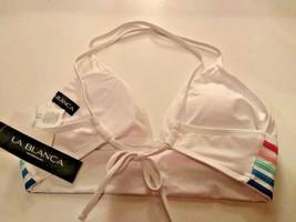 La Blanca White Swimwear Top Size 8 image 2