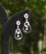 Glamorous Infinite Knot Crystal Circle Dangle Post Earrings for Pierced ... - $5.00
