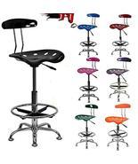 Home Drafting Stool Chair Adjustable Tractor Bar Modern Seat TkPrime (Vi... - $178.20